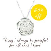 Buy Rose Necklace, Gratitude | Sterling Silver