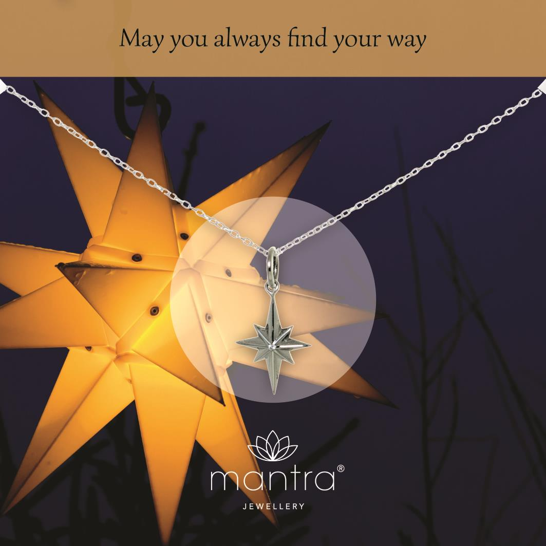 North Star Necklace | Sterling Silver | Christmas Gifts for her