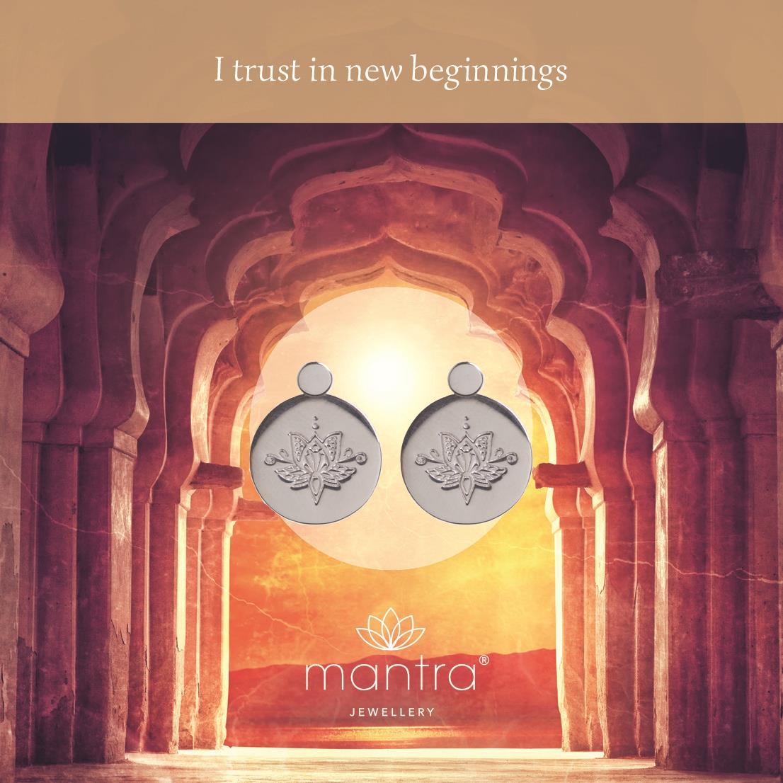 Lotus flower earrings new beginnings mantra jewellery lotus earrings buy lotus flower earrings new beginnings sterling silver mightylinksfo