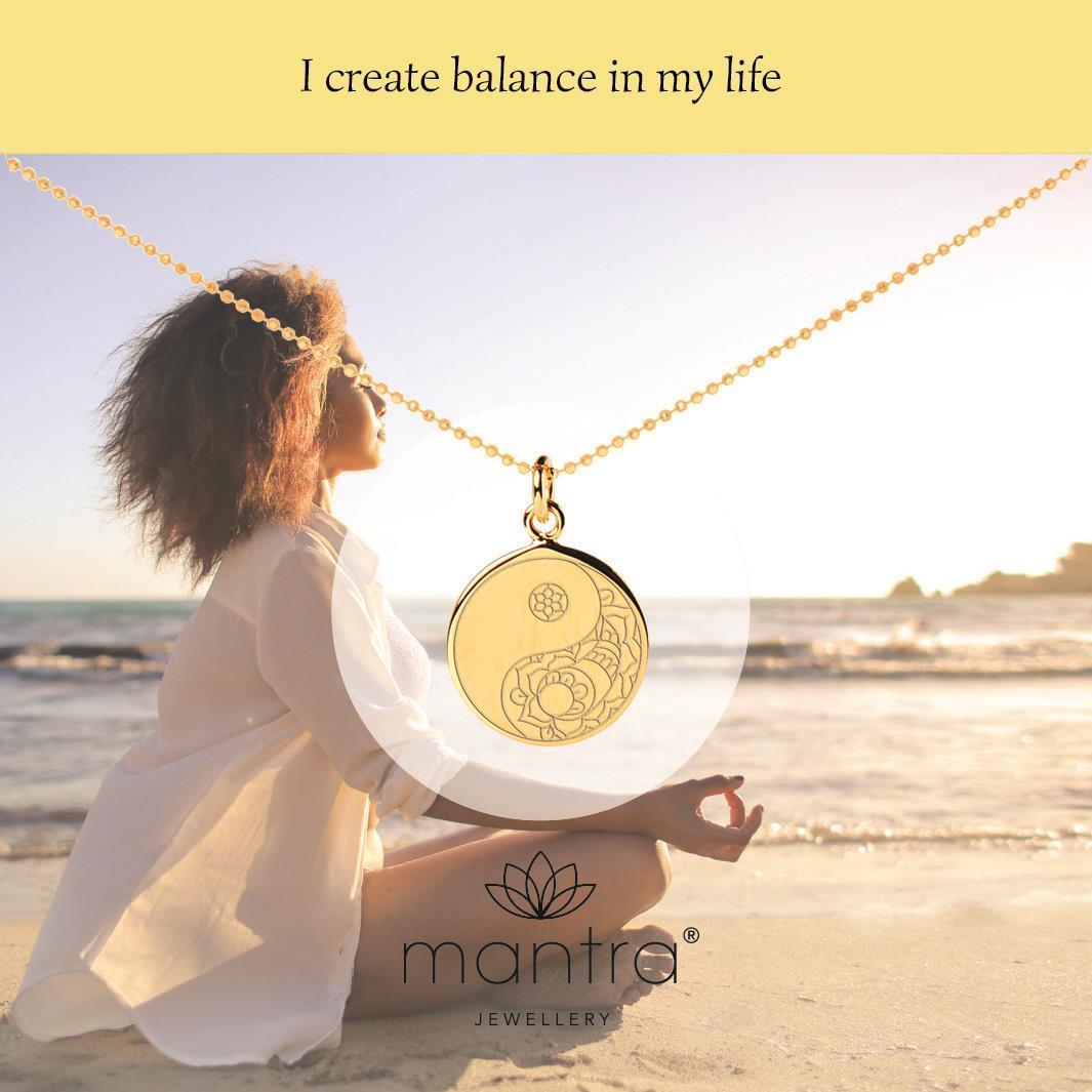 Personalised Sterling Silver Yin Yang Balance Pendant Necklace