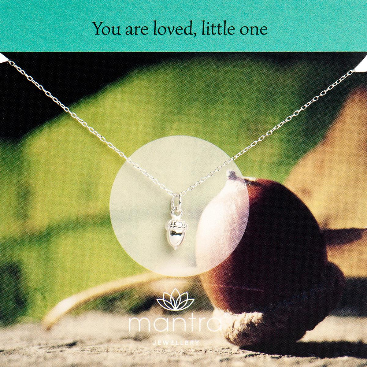pendant acorn silver jewellery necklace